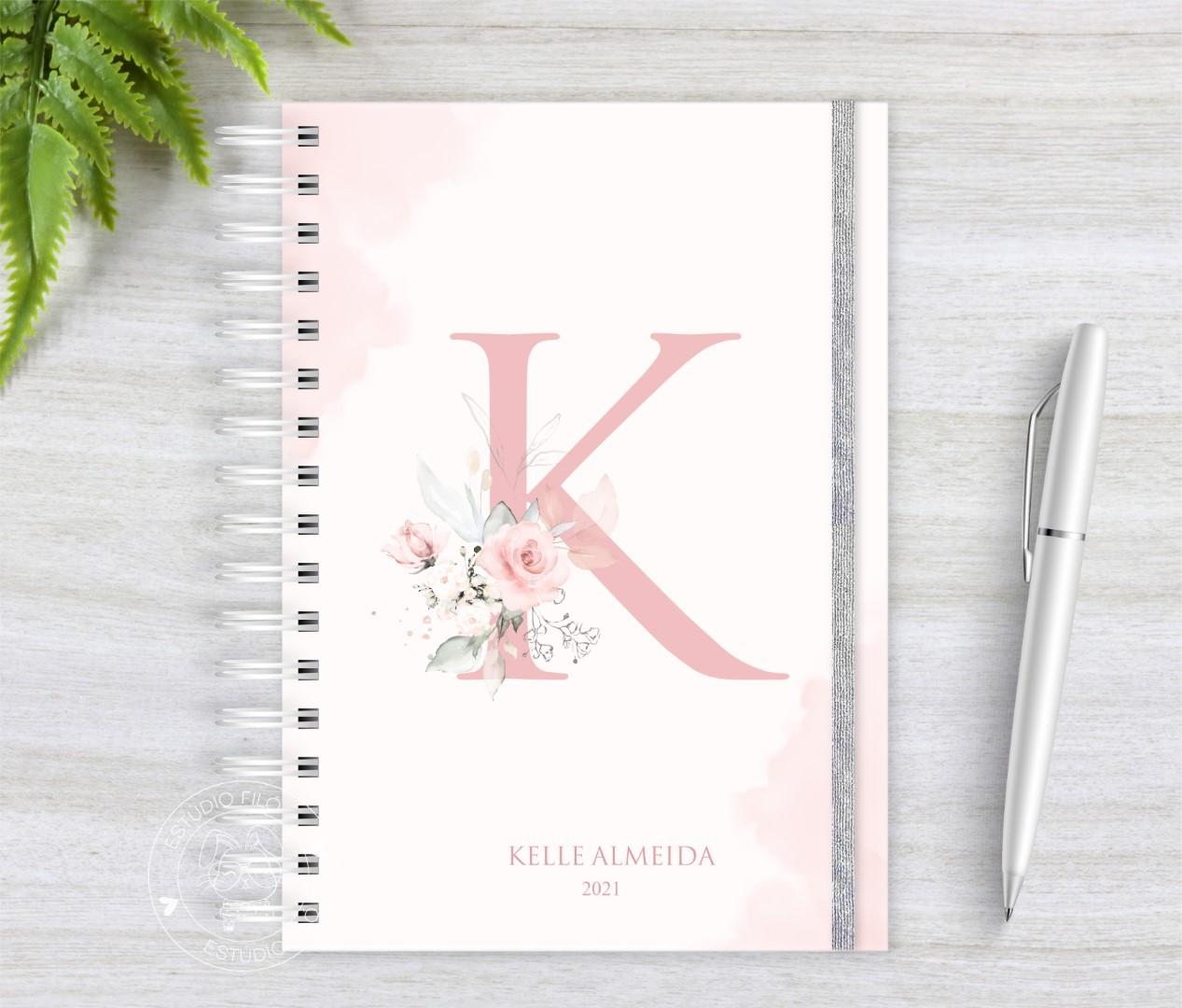 Planner Letra Floral Permanente