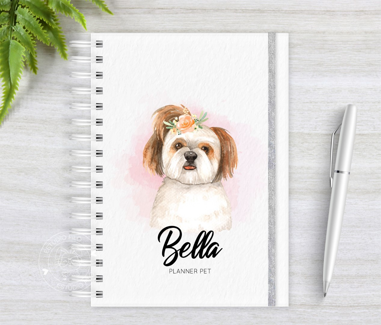 Planner PET aquarela