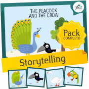 The Peacock and the Crow - Storytelling activities