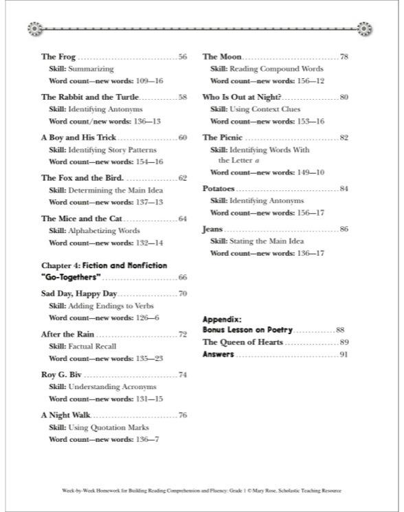Reading Comprehension & Fluency Grade 1