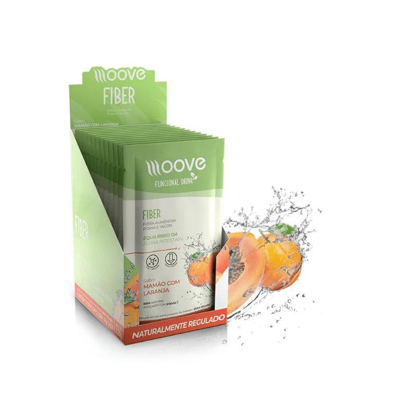 Moove Nutrition Fiber Frutas Laranja com Mamão - Display com 12 sachês
