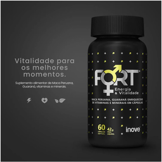 FORT ENERGIA & VITALIDADE 60 CÁPSULAS INOVE NUTRITION