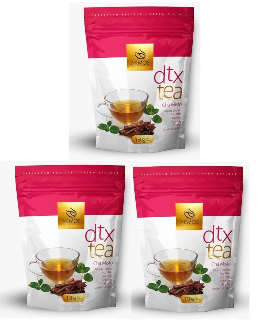 Kit 3 DTX Tea Akmos