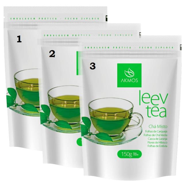 Kit 3 Leev Tea Chá Misto Akmos