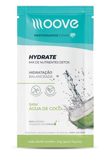 HYDRATE COCO 1 SACHÊ 20GR MOOVE NUTRITION
