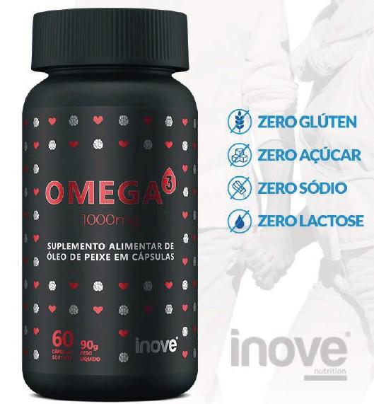 ÔMEGA 3 - 60 CÁPSULAS  1000MG INOVE NUTRITION