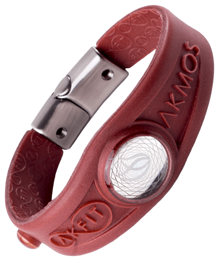 Pulseira Magnética Pearly Red Burn Akmos