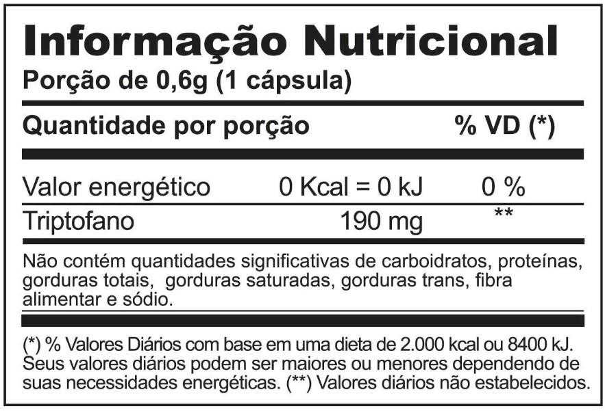 TRIPTOFANO 30 CÁPSULAS INOVE NUTRITION