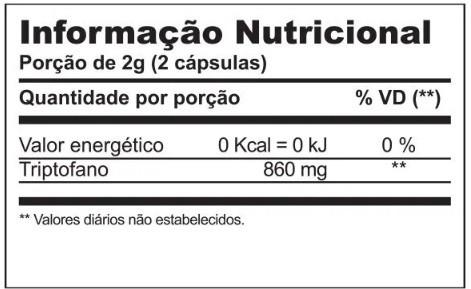 TRIPTOFANO DREAMS 60 CÁPSULAS 860MG INOVE NUTRITION