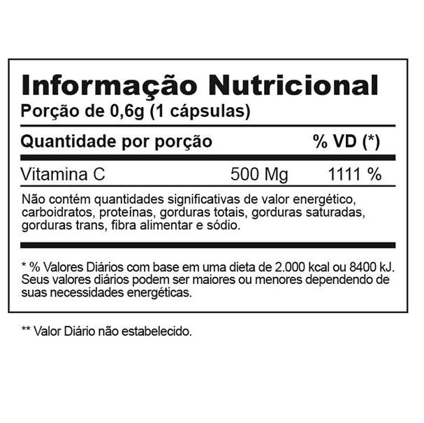 Vitamina C 500 - 60 Cápsulas Inove Nutrition
