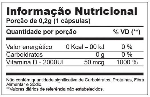 VITAMINA D2000 UI 60 CÁPSULAS INOVE NUTRITION