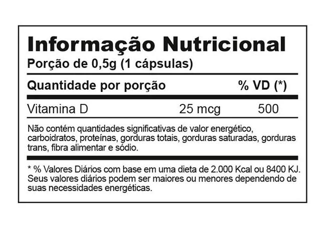 VITAMINA D 1000 - 60 CÁPSULAS INOVE NUTRITION