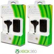 Bateria e cabo para controle de Xbox 360