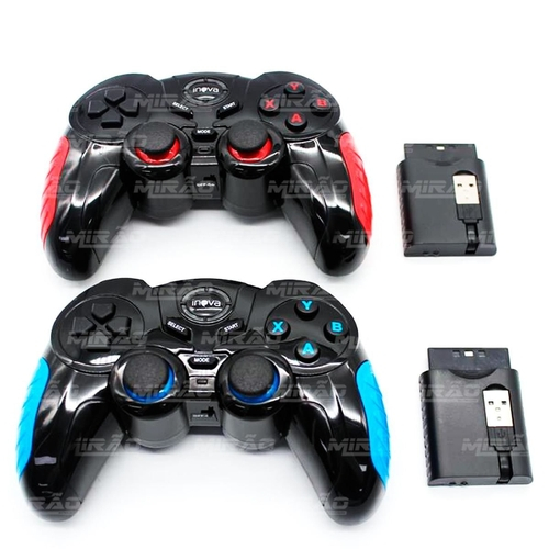 Controle 7 em 1 sem fio Play2, Play3, PC, Android