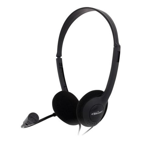 Headphone com microfone em haste com fio