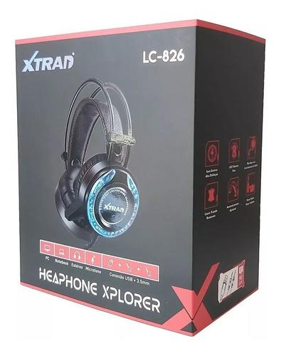 Headphone Gamer com fio Luzes Led LC-826