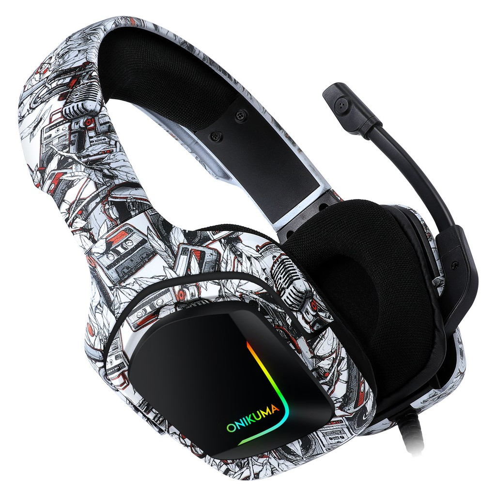 Headphone Gamer Profissional K20 com Led RGB