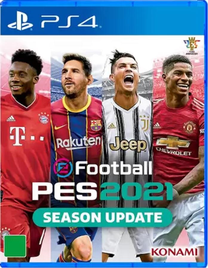 Jogo Original PES 2021 PS4 Midia Fisica