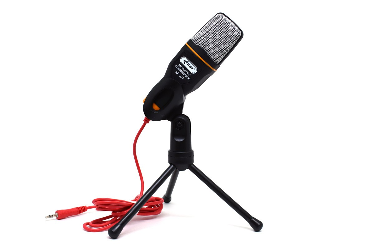 Microfone Condensador Omnidirecional De Mesa