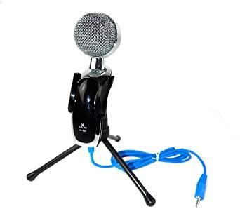 Microfone de Mesa com Condensador Jiaxi SF-401 (PC, Celular e outros com entrada P2)