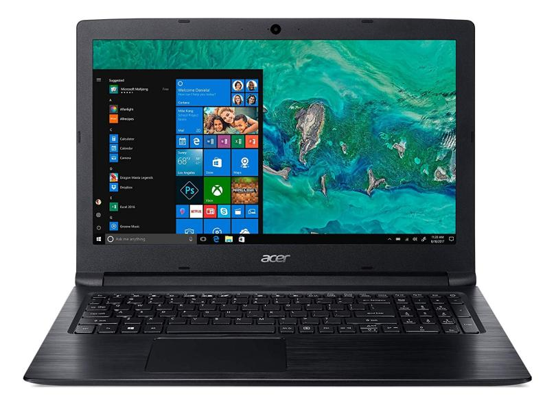 Notebook Acer Aspire 3 Intel Core i3. 04GB RAM ddr4, SSD 120GB, HD 1 tera, Tela 15,6, Webcam, wifi e hdmi