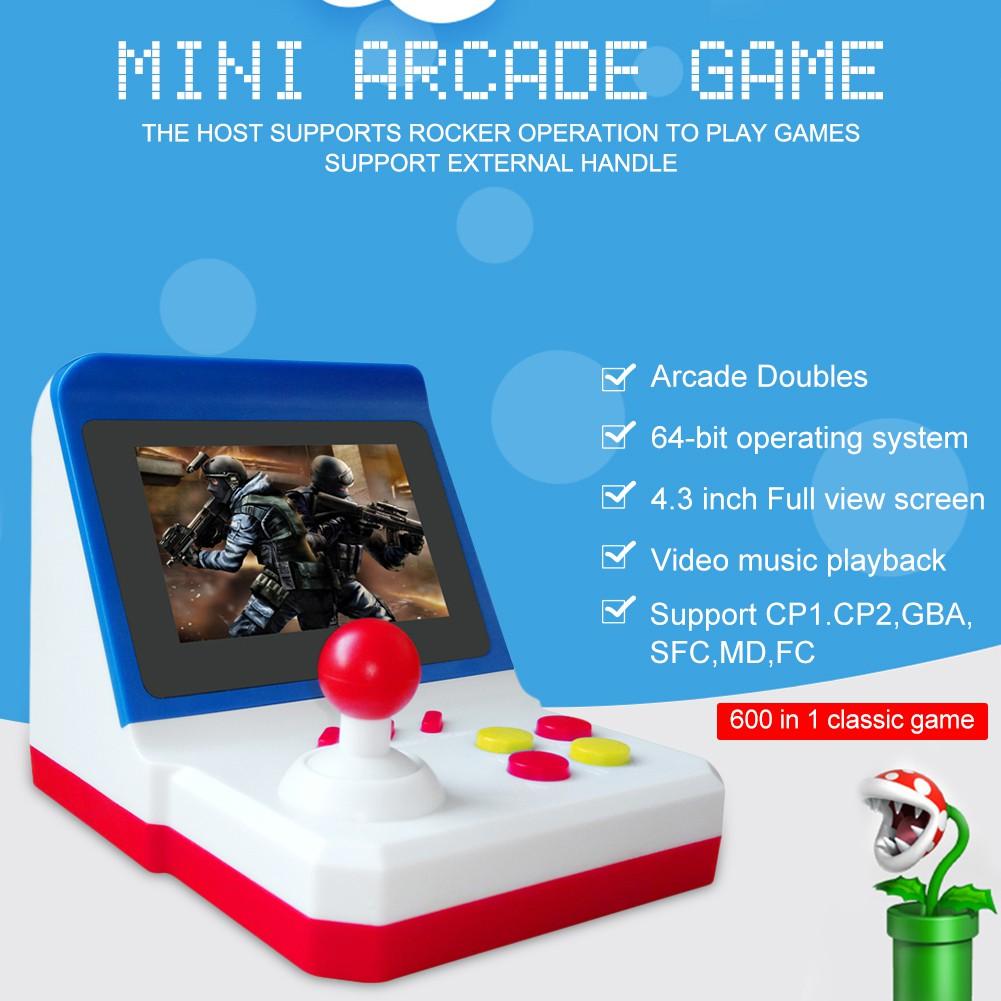 Game Portátil Retro Mini Arcade com 600 Jogos