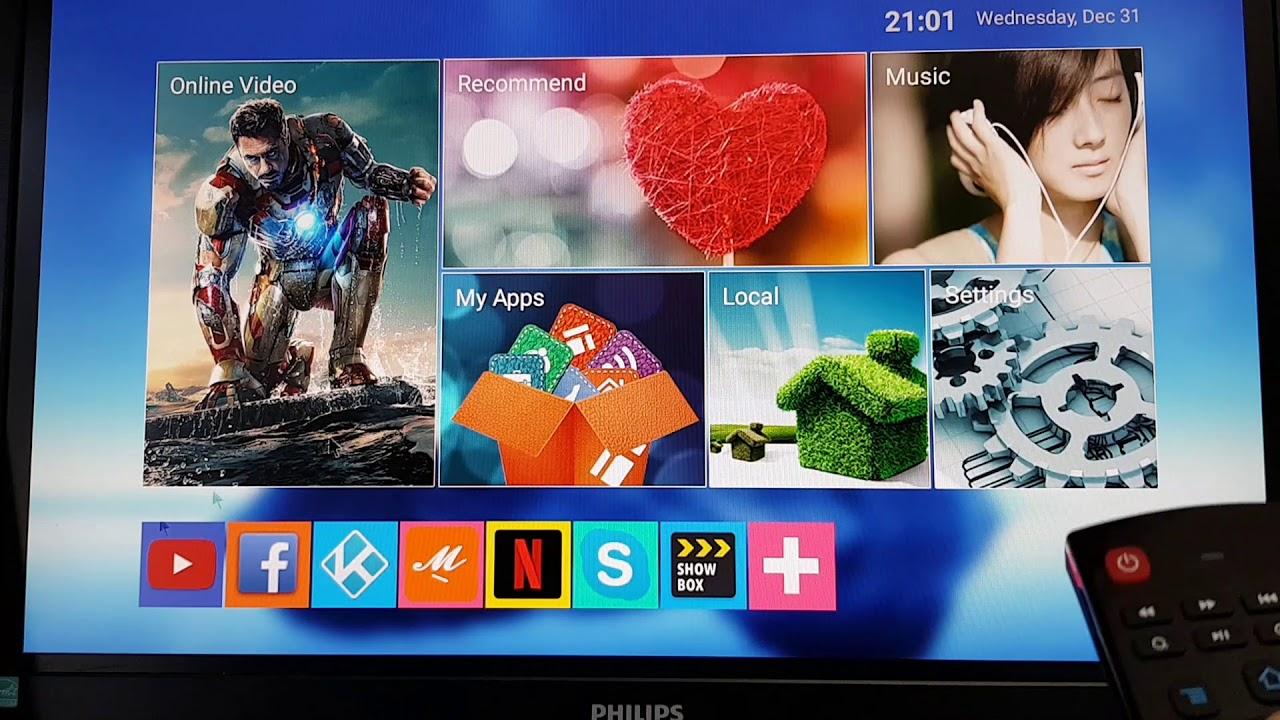 TV Bo-x Midi 4K Smart Android 10.1 Ultra Hd