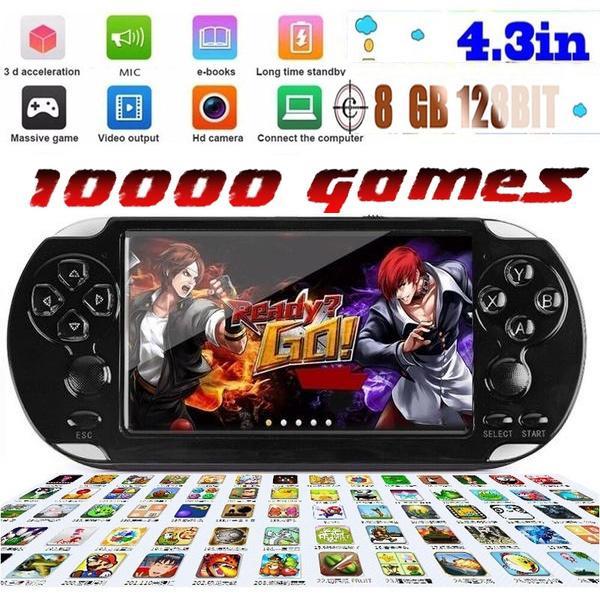 Videogame Portátil 1000 jogos (MP3, MP4, Tv Out, Câmera, Gravador)