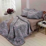 Kit Cobreleito Estampado Floral Ibiza 100% Algodão