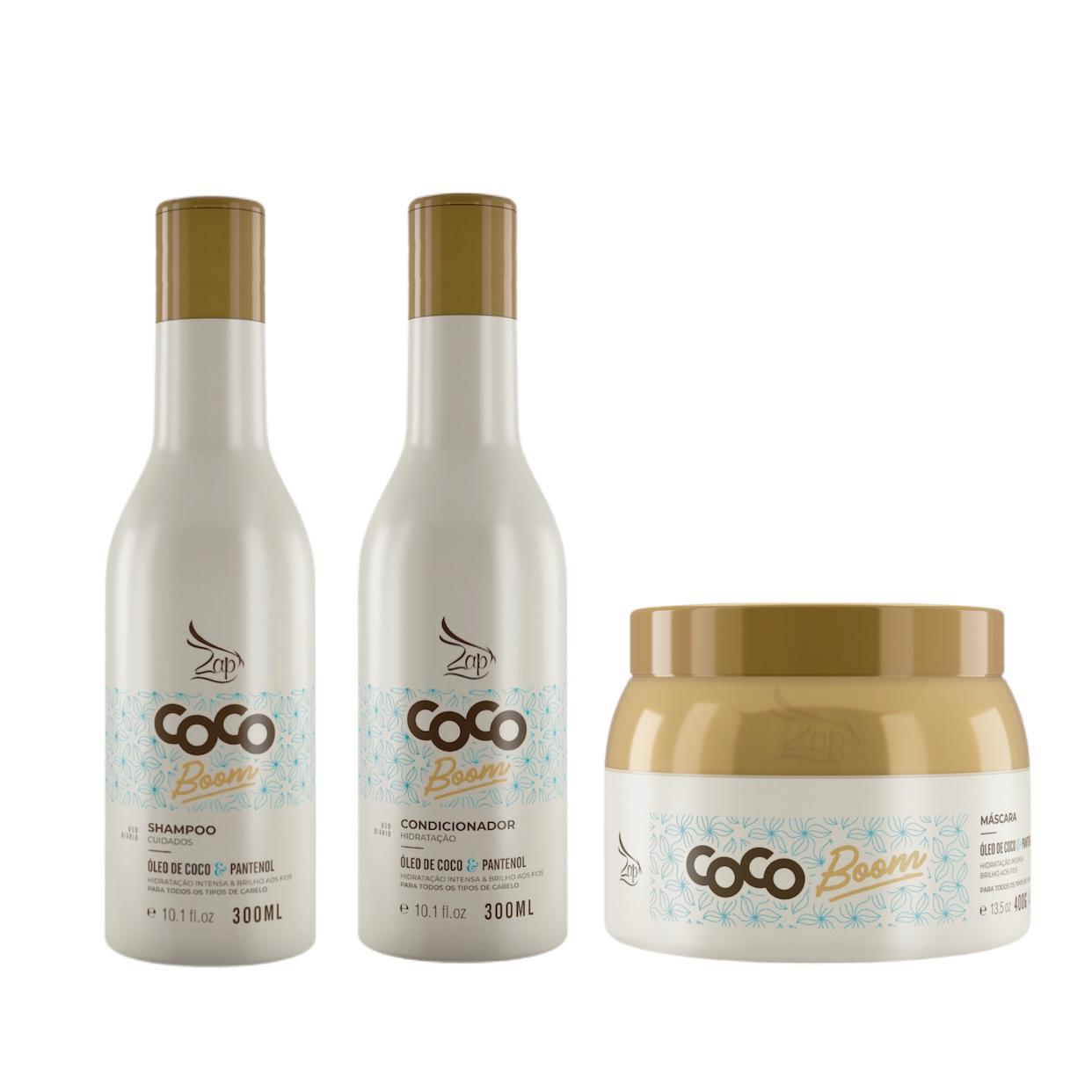 Kit Zap Coco Boom Manutenção 300ml Completo