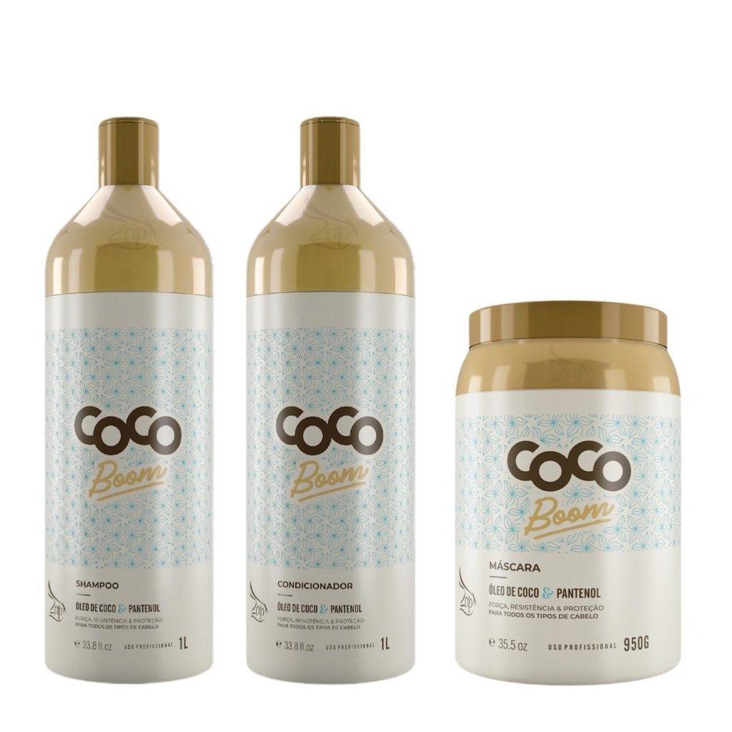 Kit Zap Coco Boom Lavatorio Profissional 1L Completo