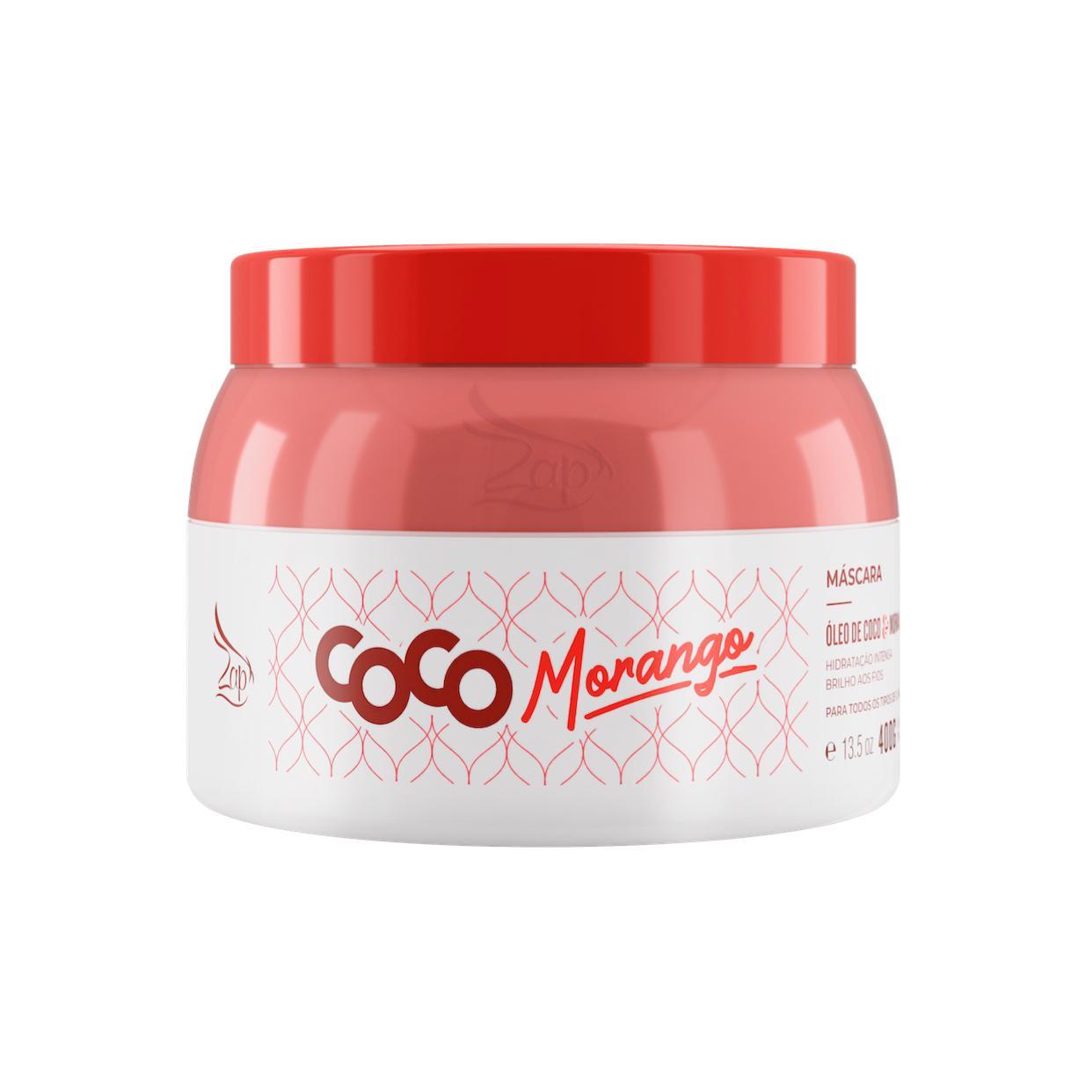 Zap Máscara Coco Morango Manutenção 400g Lançamento