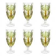 Conjunto 6 Tacas Cristal de Chumbo Palm Tree Handpaint 4