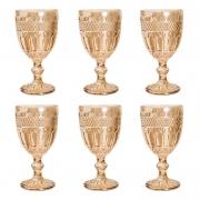 Conjunto 6 Taças de Vidro Sodo-calcico P/agua Brand Ambar