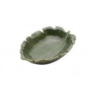 Folha Decorativa de Ceramica Banana Leaf Verde 30x