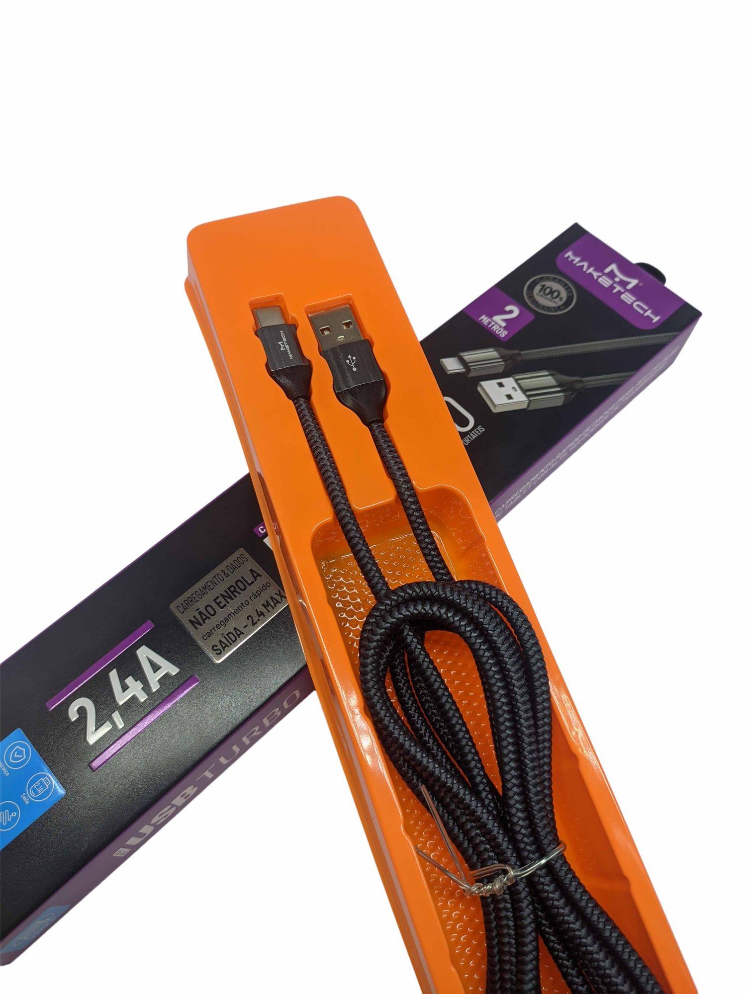 Cabo USB Turbo Micro USB C-245 Revestido com Corda Super Resistente