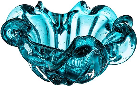 Centro de Mesa de Vidro Italy Tiffany 21x10cm