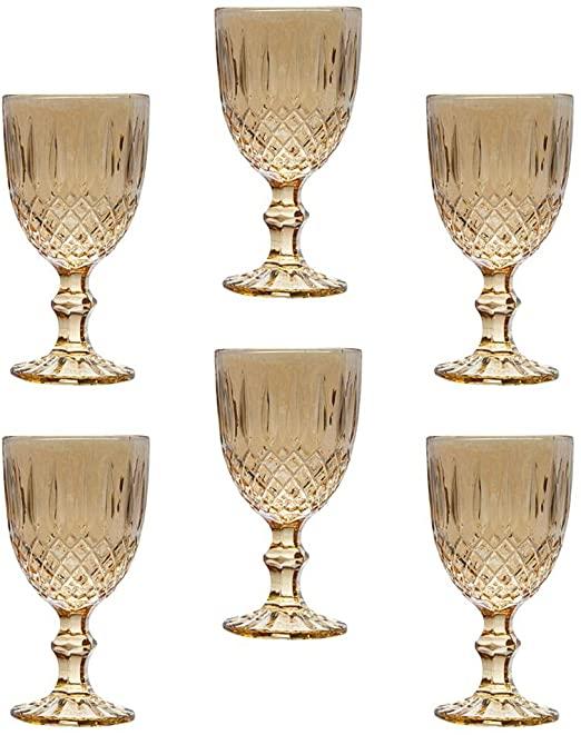 Conjunto 6 Taças de Vidro Sodo-calcico P/agua Greek Ambar 3
