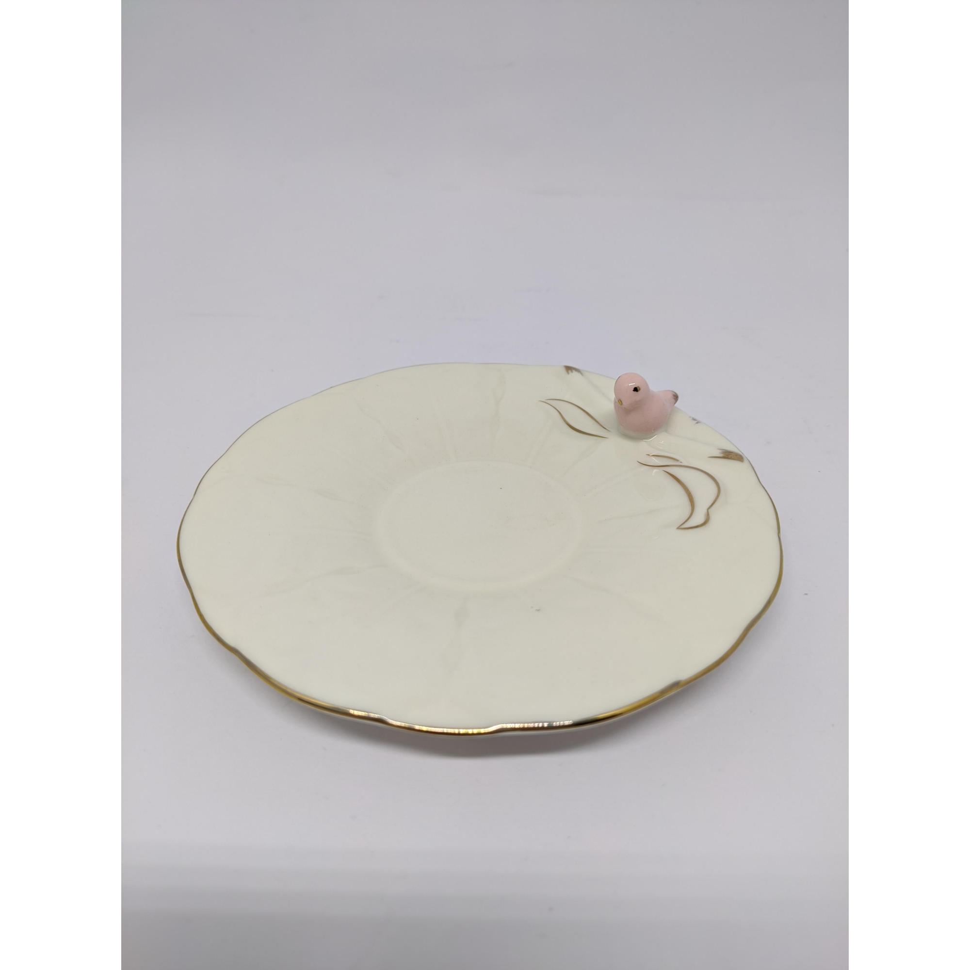 Conjunto 6 Xicaras Porcelana P/cafe Birds Round Plate