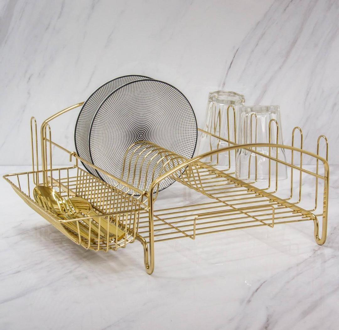 Escorredor de Louças Dourado