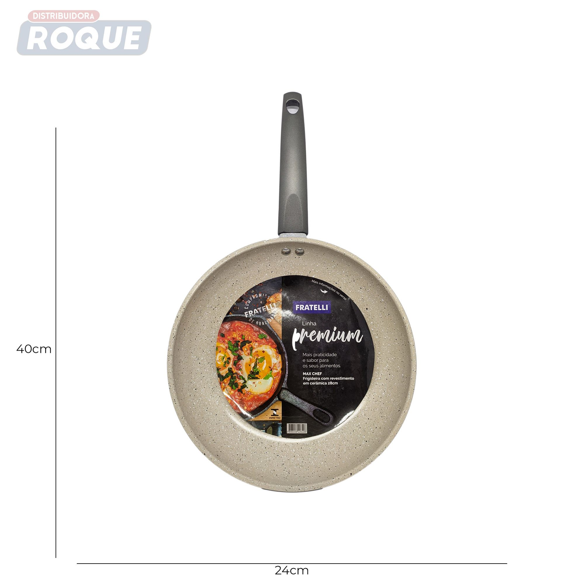 Frigideira Revest Em Ceramica Max Chef 23 Cm