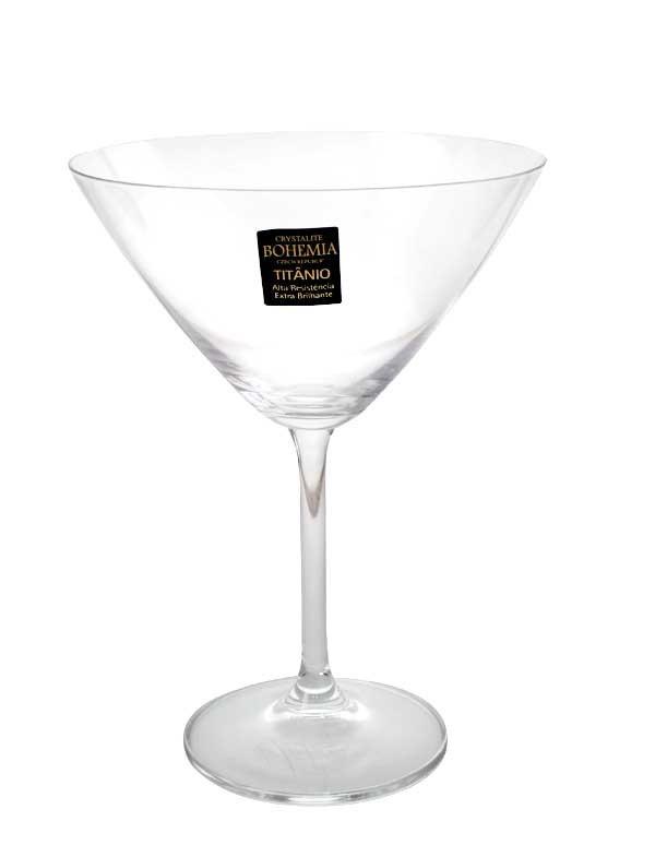 Jogo de 6 tacas para martini Gastro em cristal eco