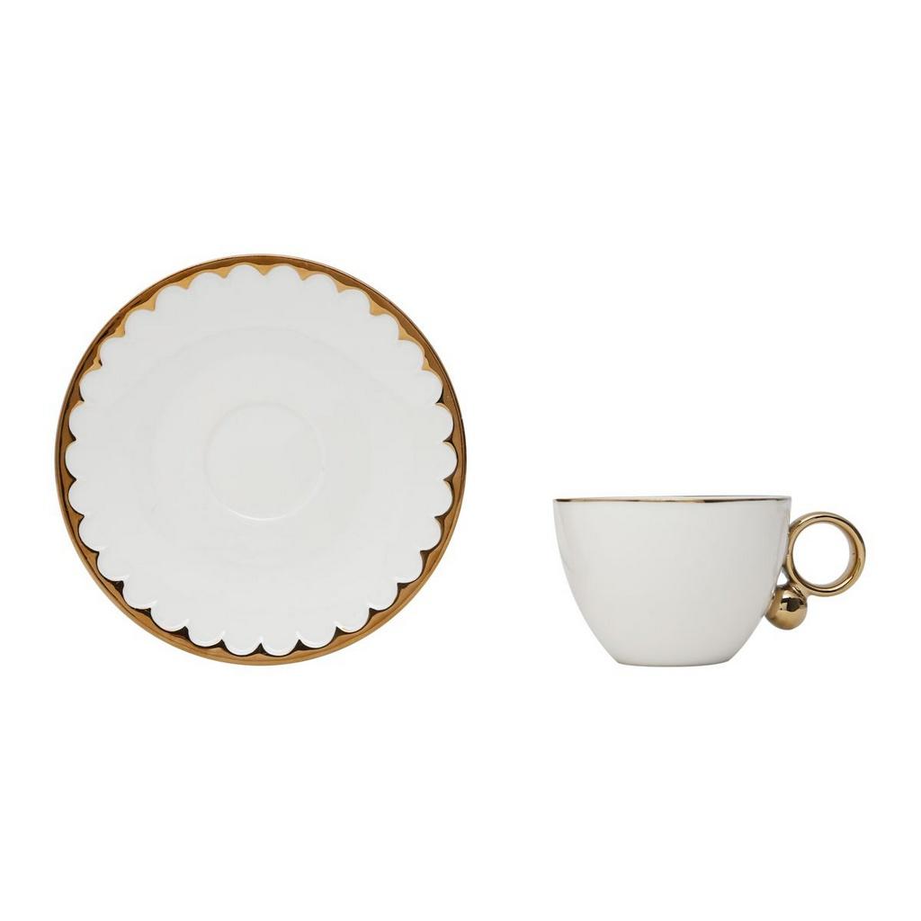 Xícara de Chá Porcelana C/pires