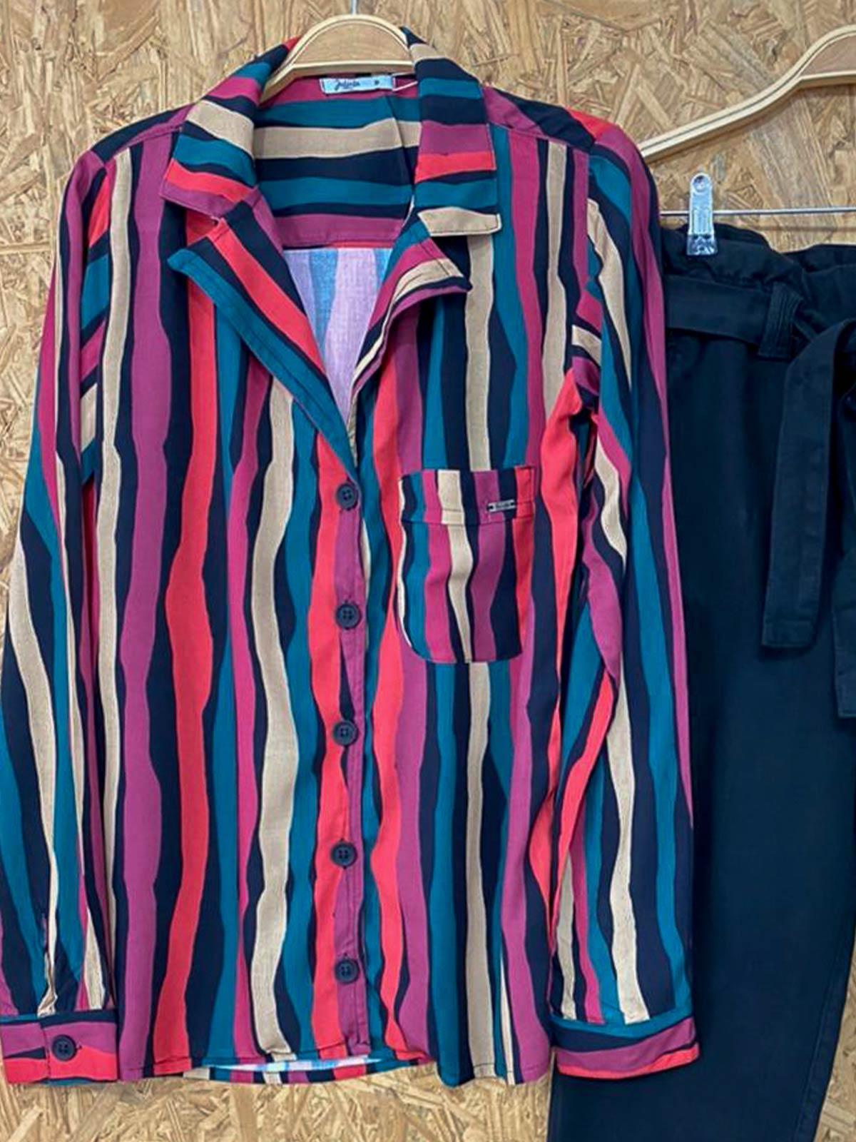 Camisa Listras Serpentina