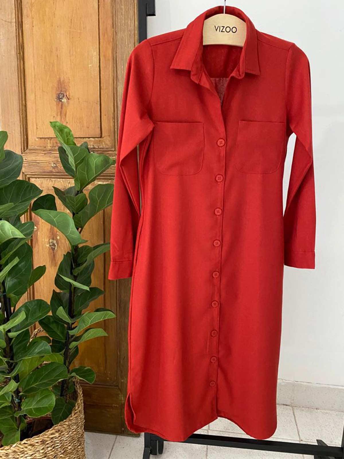 Vestido Chemise Linho