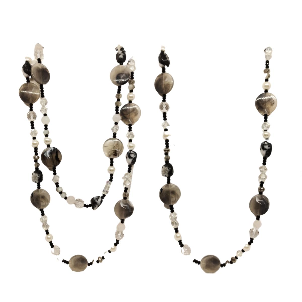 Colar com Pedras Naturais, Cristais e Resina, 1 ou 2 Voltas.