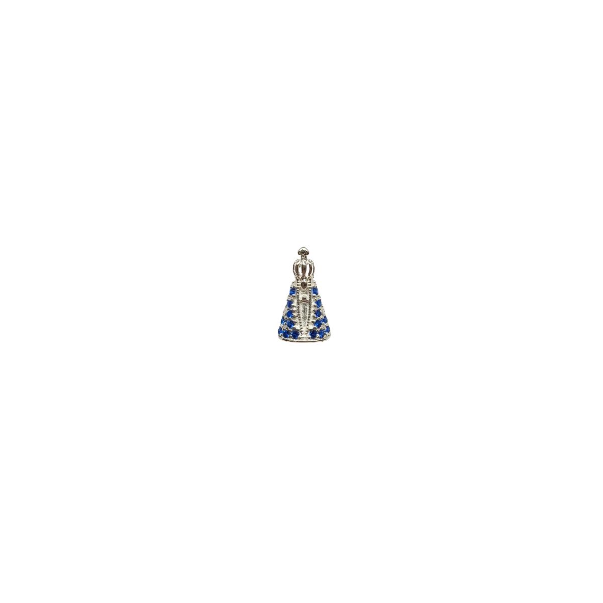 Colar Nossa Senhora Aparecida, Super delicada. Prata 925.