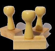 Carimbo de Madeira (diversos tamanhos)