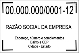 Carimbo de Madeira CNPJ