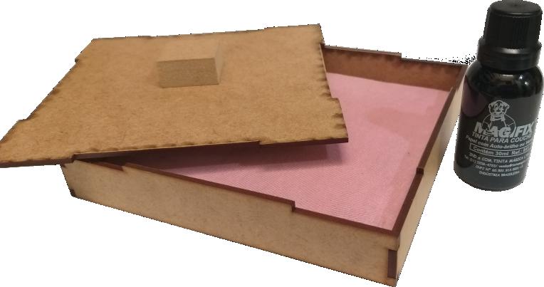 Kit  Almofada Artesanal (15 x 15cm) +  Tinta Magifix Comum 30ml